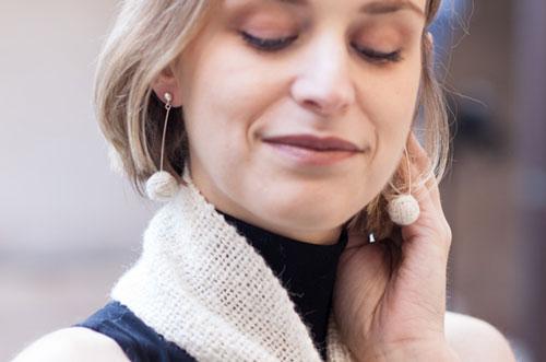 gioielli realizzati con filo di cashmere